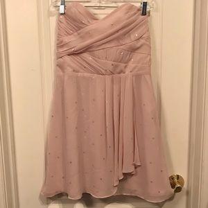 Strapless Pale Pink Express Dress